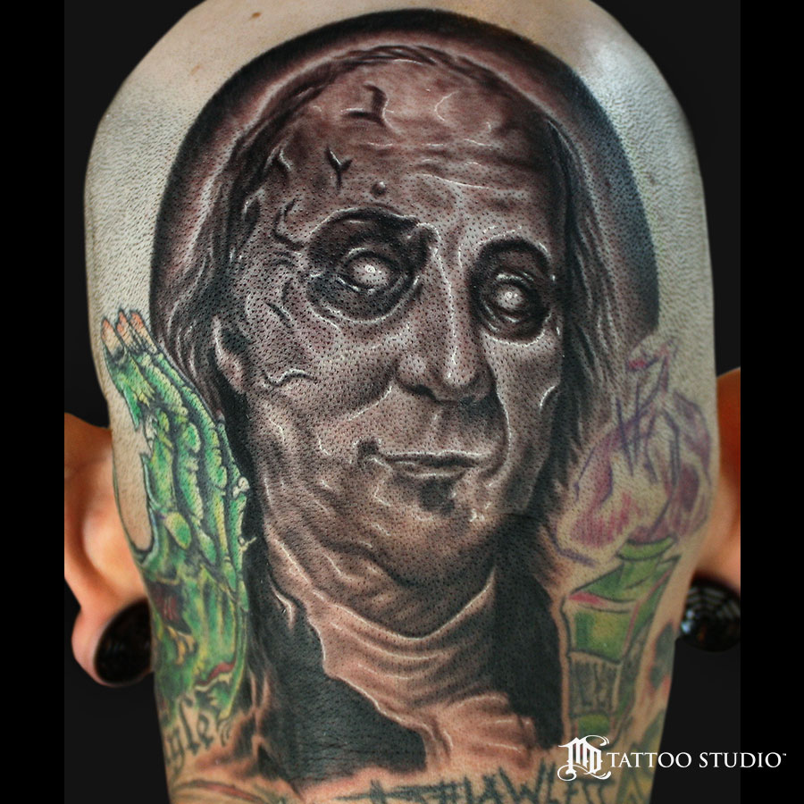 Zombie Washington Tattoo