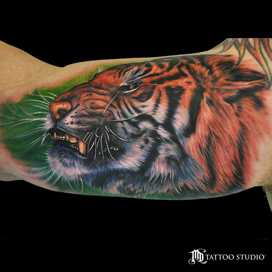 Angry Tiger Tattoo
