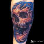 Surreal Skull Tattoo