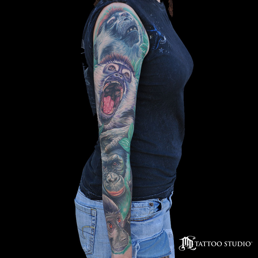 Primates Sleeve Tatttoo