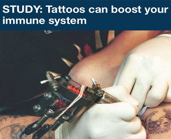 Tattoos are good for your health
