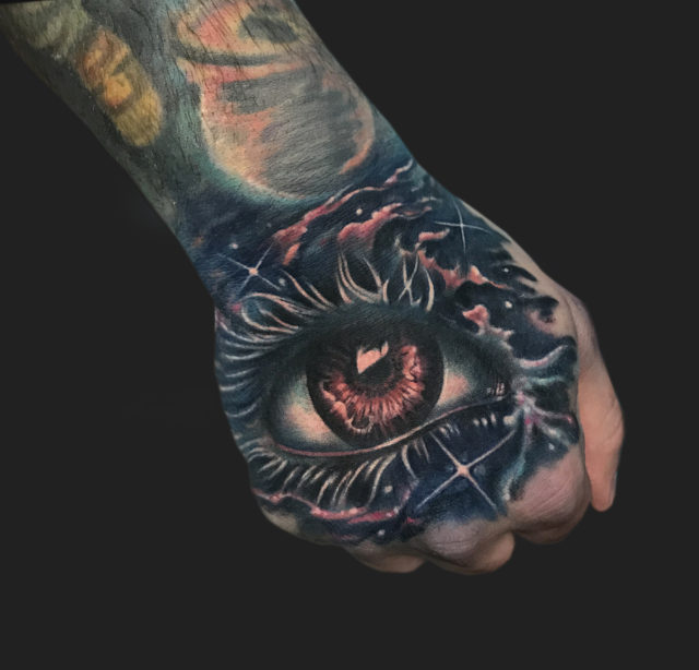 Eye Galaxy Tattoo